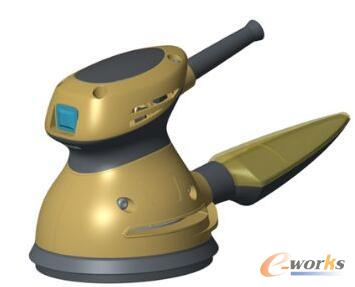 渲染3D CAD模型以展示其曲线和光滑表面。这可以用于在制造之前销售设计