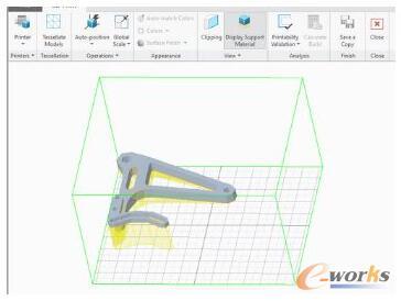 许多3D打印机(增材制造)生产零件以及在打印期间将零件保持在适当位置所需的支撑。CAD系统可以帮助找到这些支撑的最佳位置
