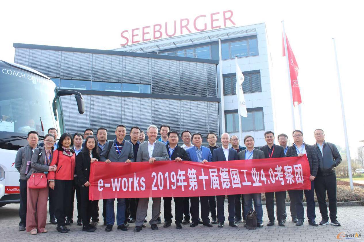 考察团成员在SEEBURGER公司合影