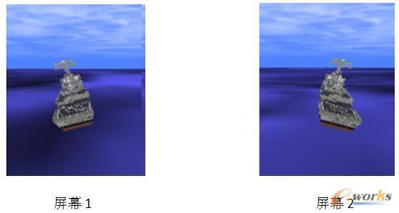 船舶摇荡视觉仿真图