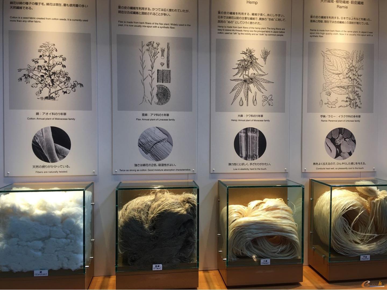 天然纤维材料展示