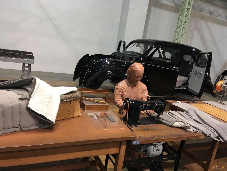 创业时期AA型车(A1型量产车)的内饰制作