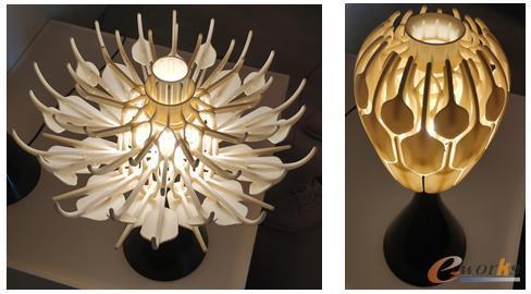 用增材制造技术一次性打印成型的台灯