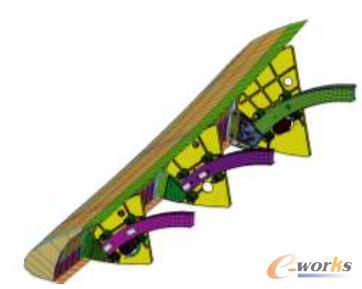 缝翼机构刚柔耦合模型