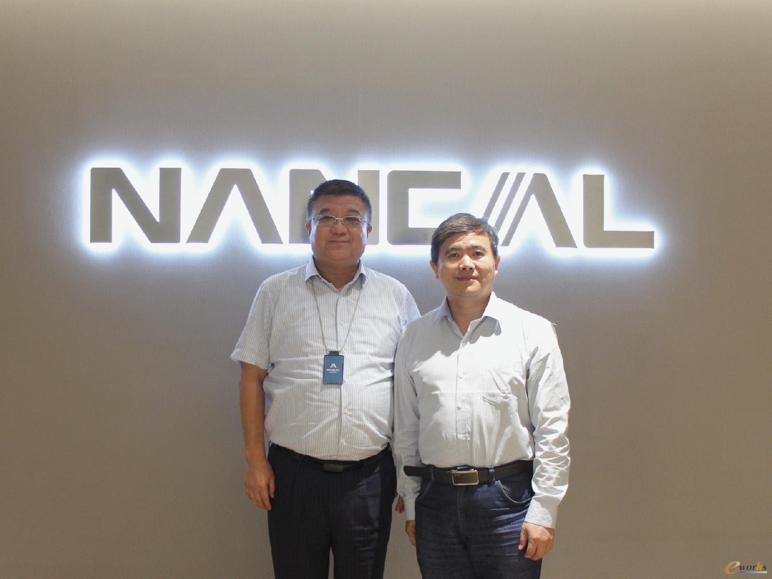 能科科技股份有限公司董事长祖军先生(左)与e-works CEO黄培博士(右)