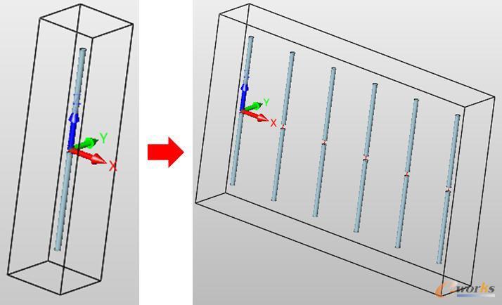中望电磁阵列功能示例