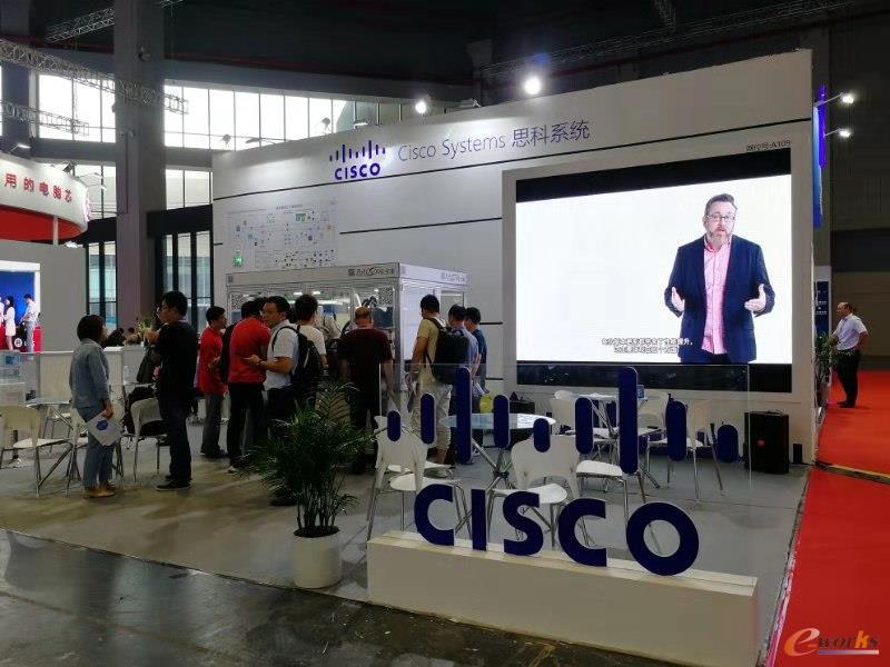 Cisco思科展台外景