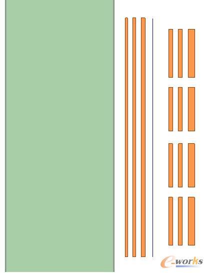 原副边绕组中间的磁感应强度取值线条