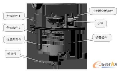 弹簧片按压式电动机构电气限位装置结构图