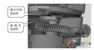 霍尔式电动机构电气限位装置结构图