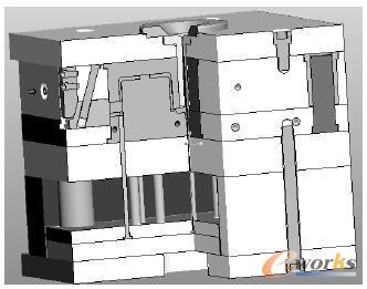 开关盒模具的三维模型