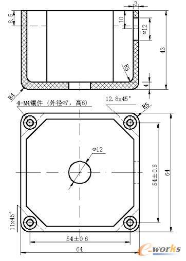 开关盒的二维图纸