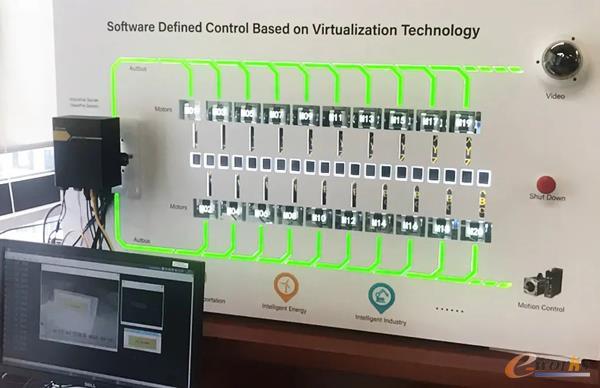 汉诺威展DEMO:利用软件定义将Intel i7处理器的4个物理核虚拟出20个实时核,同时集成自动化控制、运动控制、机器视觉等功能
