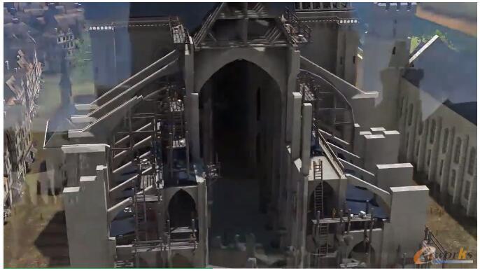 巴黎圣母院建造过程的复原