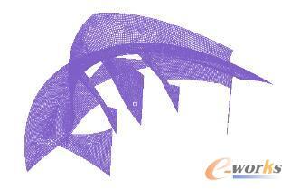 排障器拓扑结构肋板化有限元模型