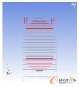 雷达阵面热仿真模型布置图