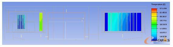 波控分机与频率源分机发热插件壳体表面温度云图