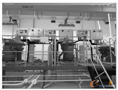 船舶分油机间三维仿真界面