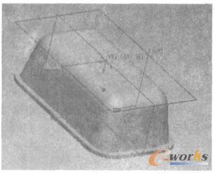 塑件三维实体模型(底面)