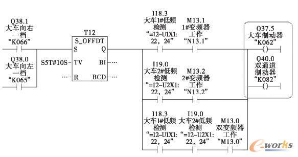 大车抱闸优化控制程序图