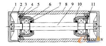 优化设计后托辊结构原理图