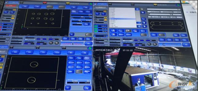数控激光切割机实时监控状态