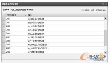 工程记录分类列表