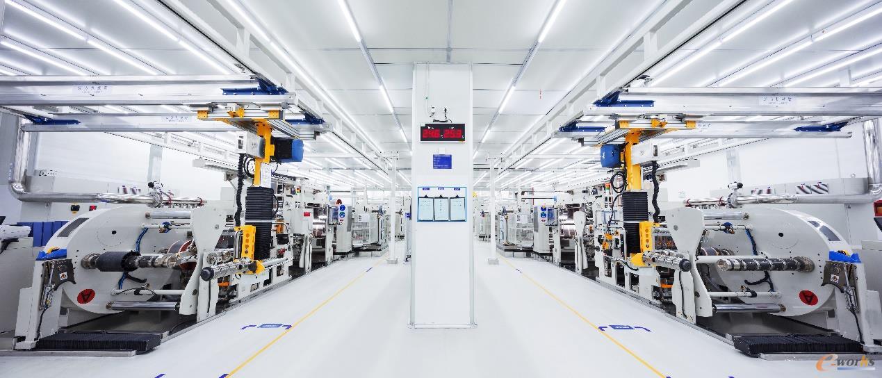 宁德时代锂电池极片生产车间
