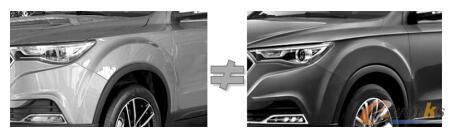车身色彩实物图与渲染图对比
