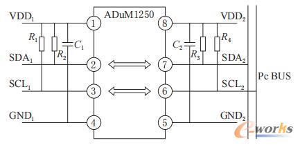 ADuM1250外围电路