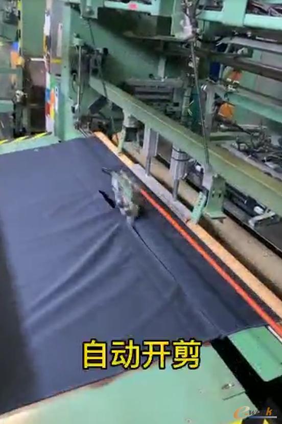 自动开剪和自动放纸管