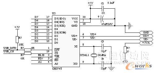 usb接口电路原理图