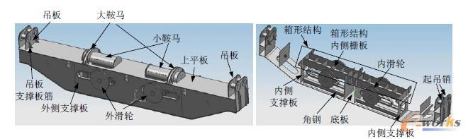 船用 研究 柴油机 强度 三维模型 300t/图1 吊梁三维模型