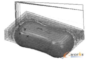 基于CAXAv图形工程师的图形香皂图纸与管井加中雨污符号数控模具造型图片