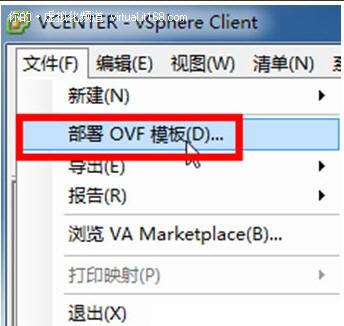 部署OVF模板