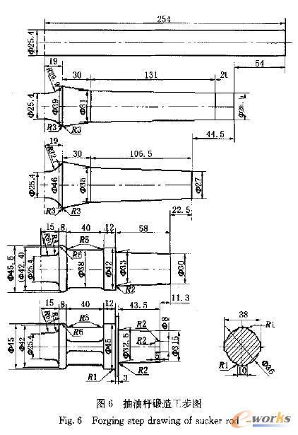 先进筋条式抽油杆镦锻模具设计_圆柱v先进技术圣诞设计素材图片