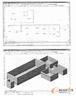 autocad管道铺设三维设计