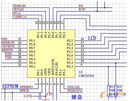 单片机外围电路:     p0.6 360 转速信号中断     p0.