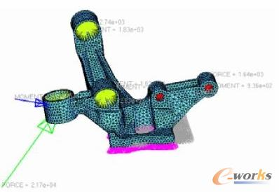 rWorks在汽车转向节优化设计中的应用高清图片