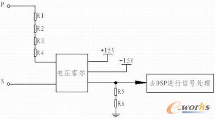 输出已隔离,因此霍尔的输出电流信号经电阻r5,r6采样转换成电压信号后