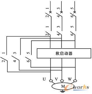 电机软启动器原理接线图