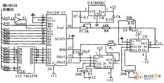 8位dac扩展为12位dac电路