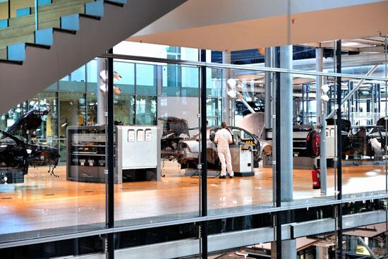 大众汽车的透明工厂高清图片