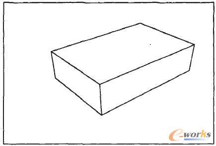 这样的透视称为两点透视或成角透视;三
