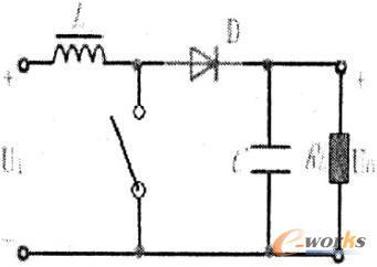 主回路拓扑结构选择非隔离型中boost型升压斩波电路,如图3.