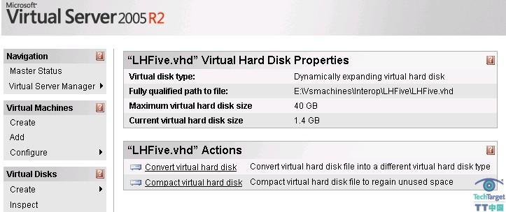 检查磁盘并选择Compact Virtual Hard Disk