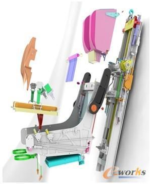 航宇用solidworks设计的弹射座椅
