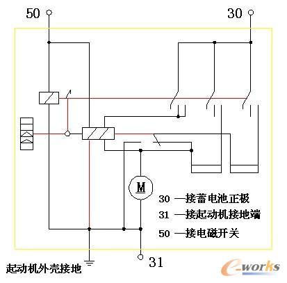 起动机电路原理图