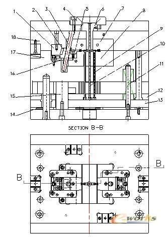 池扣注射模具设计与制造