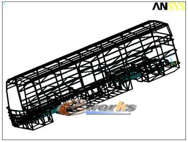 3.2车身结构静态有限元载荷工况分析 客车车顶结构拓扑优化高清图片